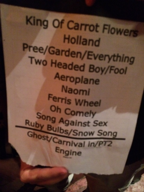 Someone next to me got their hands on Scott Spillane's setlist from the show.