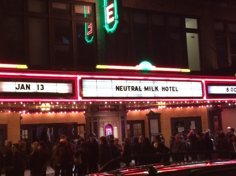 The scene at Ithaca State Theatre after the show.